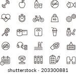 fitness   health care icons | Shutterstock .eps vector #203300881