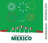 mexico independence day... | Shutterstock .eps vector #2033031224