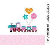 cute little train with love...   Shutterstock .eps vector #2033031611