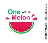 watermelon one in a melon...   Shutterstock .eps vector #2033031617