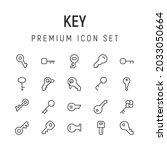 premium pack of key line icons. ...