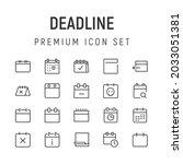 premium pack of deadline line... | Shutterstock .eps vector #2033051381