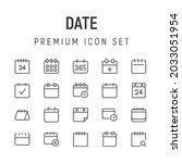 premium pack of date line icons....