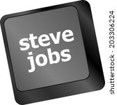 Stock photo steve jobs button on keyboard life concept 203306224