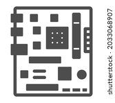motherboard square shape layout ...   Shutterstock .eps vector #2033068907