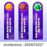 kids bookmarks with cartoon... | Shutterstock .eps vector #2033072327