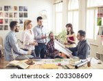 group of architects having... | Shutterstock . vector #203308609