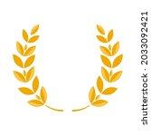 gold laurel wreath   a symbol... | Shutterstock .eps vector #2033092421