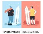 contrast of winter and summer ...   Shutterstock .eps vector #2033126207