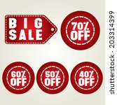 big sale icon | Shutterstock .eps vector #203314399