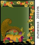 fall harvest framed background. ... | Shutterstock .eps vector #2033146