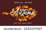 autumn leaves background....   Shutterstock .eps vector #2033197007