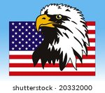 Vector Illustration Of Eagle...
