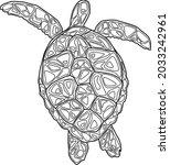 vector picture of turtles  sea... | Shutterstock .eps vector #2033242961