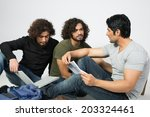 group of multiracial friends... | Shutterstock . vector #203324461