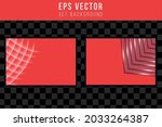 set of red abstract background...