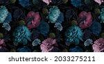 unusual floral summer seamless... | Shutterstock . vector #2033275211