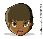 cartoon sulking woman | Shutterstock .eps vector #203331721