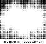 black halftone dotted frame on... | Shutterstock .eps vector #2033329424