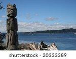 Totem Pole On Blake Island Nea...