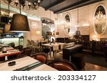 classic restaurant interior | Shutterstock . vector #203334127