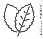 stevia  square line vector icon.   Shutterstock .eps vector #2033382791