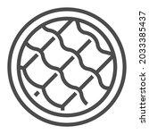 fiber  square line vector icon.   Shutterstock .eps vector #2033385437