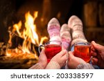 Couple Relaxing With Mulled...