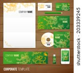 corporate identity business set ... | Shutterstock .eps vector #203339245