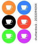 many color of coffee shop icon  ...