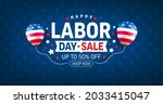 usa labor day sale banner and... | Shutterstock .eps vector #2033415047