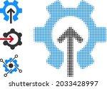 halftone gear integration....   Shutterstock .eps vector #2033428997