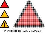 halftone danger triangle...   Shutterstock .eps vector #2033429114