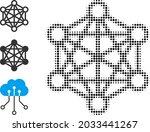 halftone network relations.... | Shutterstock .eps vector #2033441267