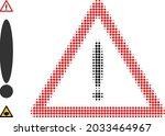 halftone danger. dotted danger...   Shutterstock .eps vector #2033464967