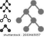 halftone binary relations.... | Shutterstock .eps vector #2033465057