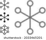halftone net links. dotted net...   Shutterstock .eps vector #2033465201