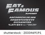 chrome alphabet for action... | Shutterstock .eps vector #2033469191