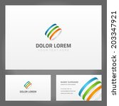 business card design and... | Shutterstock .eps vector #203347921