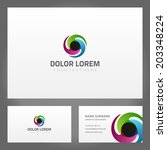 business card design and... | Shutterstock .eps vector #203348224
