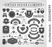 vintage vector design elements. ... | Shutterstock .eps vector #203348599