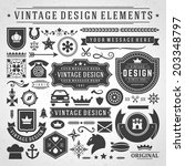 vintage vector design elements. ... | Shutterstock .eps vector #203348797