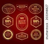vintage vector design elements. ... | Shutterstock .eps vector #203348827