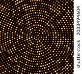 golden round halftone shiny... | Shutterstock .eps vector #2033494604