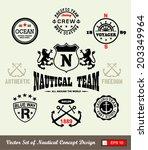 vector set  emblems and labels  | Shutterstock .eps vector #203349964