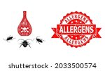 net cockroach poison icon  and...   Shutterstock .eps vector #2033500574