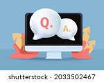 faq  frequently asked question... | Shutterstock . vector #2033502467