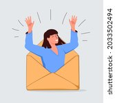 email search  open new mail... | Shutterstock . vector #2033502494