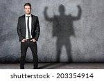strong businessman | Shutterstock . vector #203354914