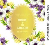 wedding invitation cards with... | Shutterstock .eps vector #203357509